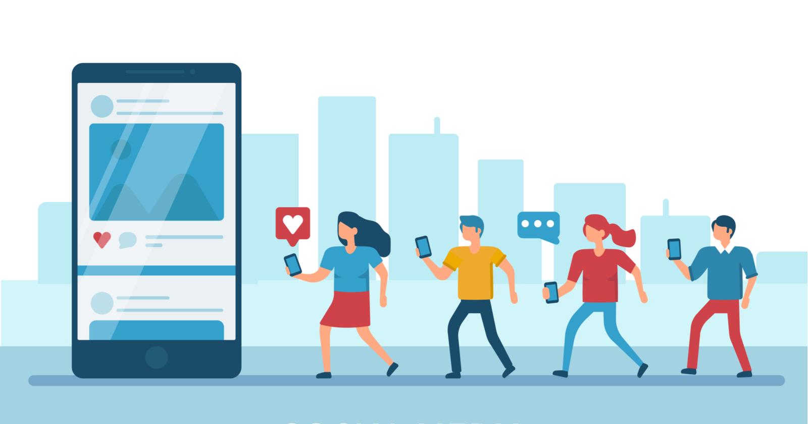 social media advertising infographic